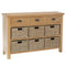 Canterbury Oak 3 Drawer 6 Basket Unit