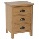 Canterbury Oak 3 Drawer Bedside