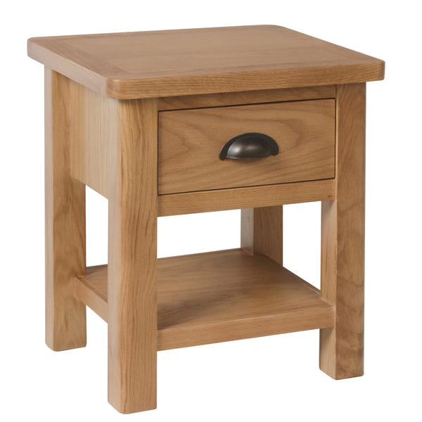 Canterbury Oak 1 Drawer Lamp Table