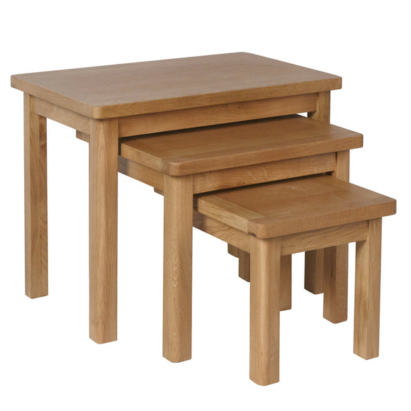 Canterbury Oak Nest of 3 Tables