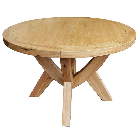 French Oak Circular Dining Table