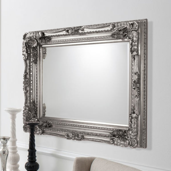Silver Carved Vienna Wall Mirror