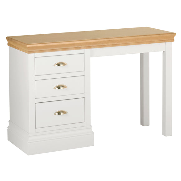 Eton White Single Pedestal Dressing Table