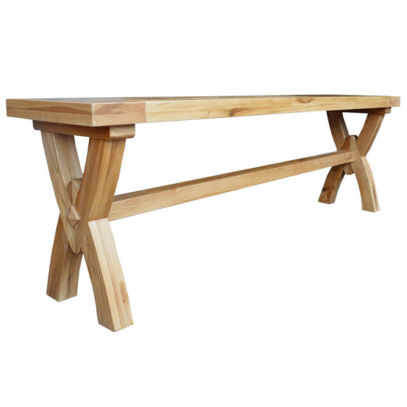 French Oak Ox Bow Bench Small