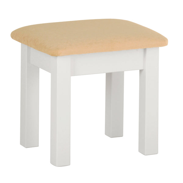Eton White Dressing Table Stool
