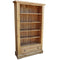 French Oak Tall Wide Bookcase with Drawer