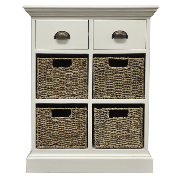 Lyndhurst 2 Drawer 4 Basket Unit