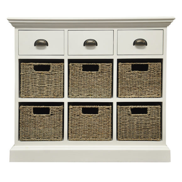 Lyndhurst 3 Drawer 6 Basket Unit