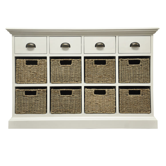 Lyndhurst 4 Drawer 8 Basket Unit