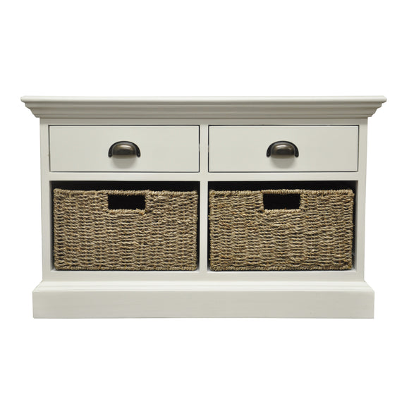 Lyndhurst 2 Drawer 2 Basket Unit