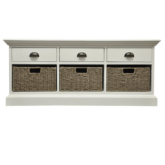 Lyndhurst 3 Drawer 3 Basket Unit