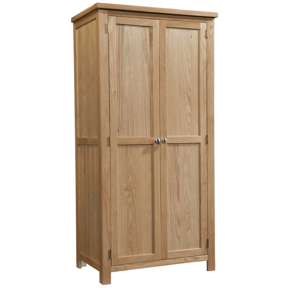 Oxford Oak All Hanging Double Wardrobe