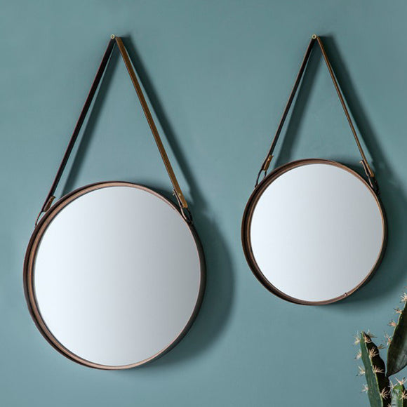 Set of 2 Bentley Strap Mirrors