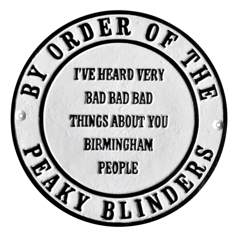 Peaky Blinders Birmingham Metal Wall Plaque