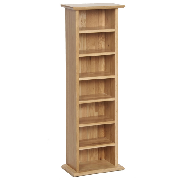 Hampshire Oak CD/DVD Rack