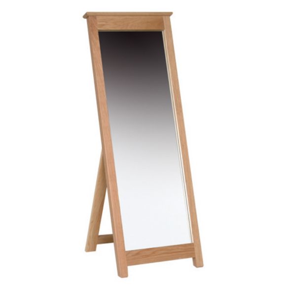 Hampshire Oak Cheval Mirror
