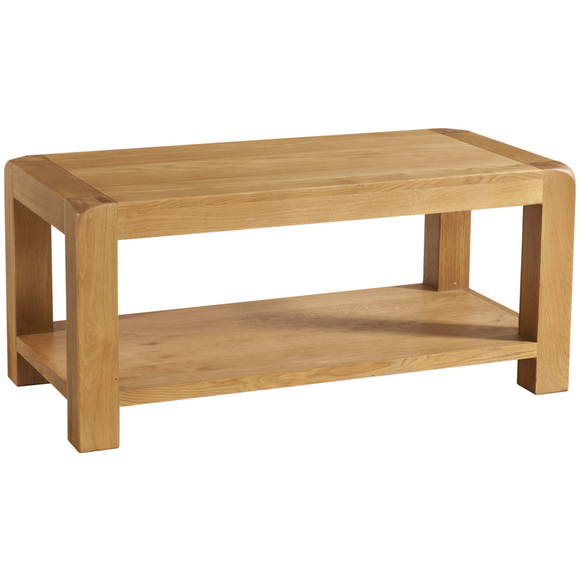 Sway Oak Coffee Table with Shelf
