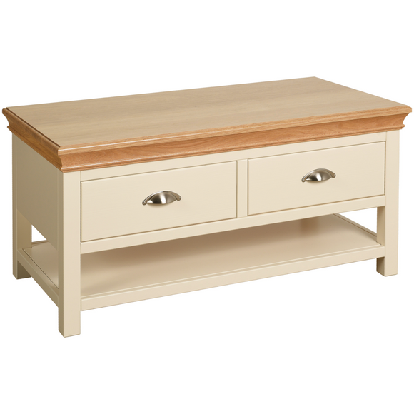 Eton Ivory Coffee Table with 2 Drawers
