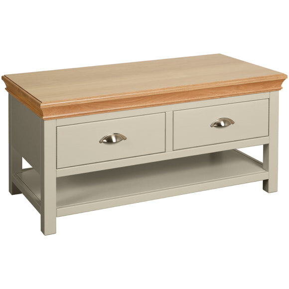 Eton Platinum Coffee Table with 2 Drawers