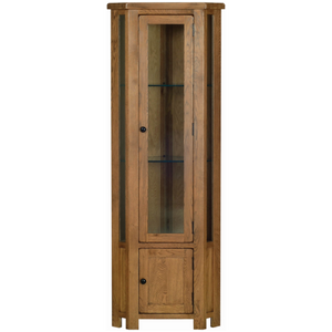 Petersfield Oak Corner Display Cabinet