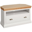 Eton White Corner TV Unit