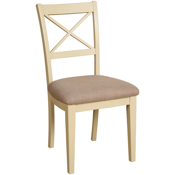 Eton Ivory Cross Back Dining Chair