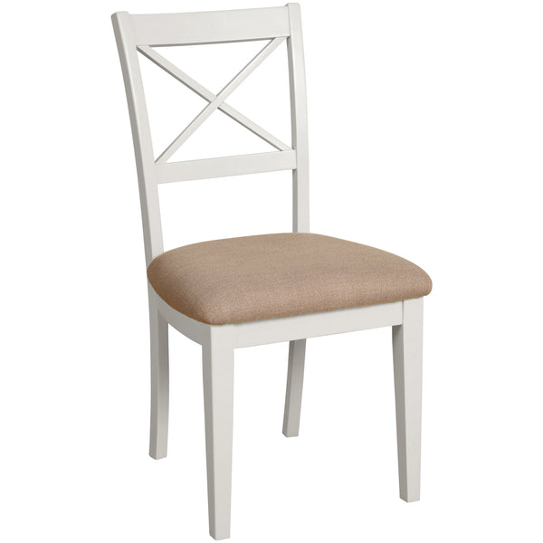 Eton White Cross Back Dining Chair