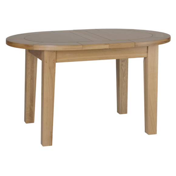 Hampshire Oak Small D End Extending Table
