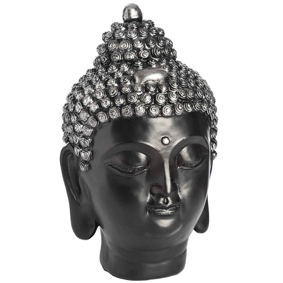 Dark Silver Buddha Head