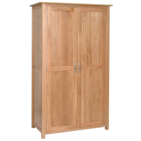 Hampshire Oak All Hanging Double Wardrobe