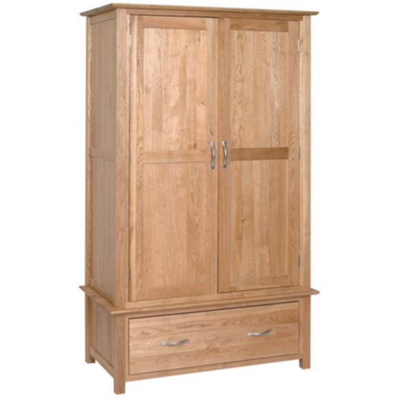 Hampshire Oak Double Wardrobe with 1 Drawer
