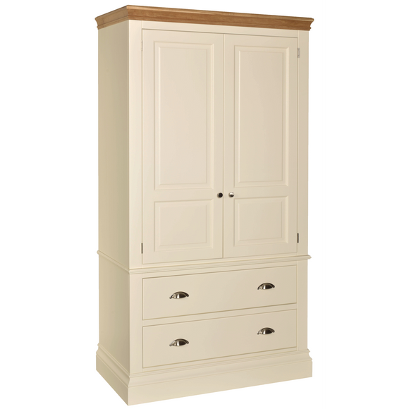 Eton Ivory Double Wardrobe with Drawers