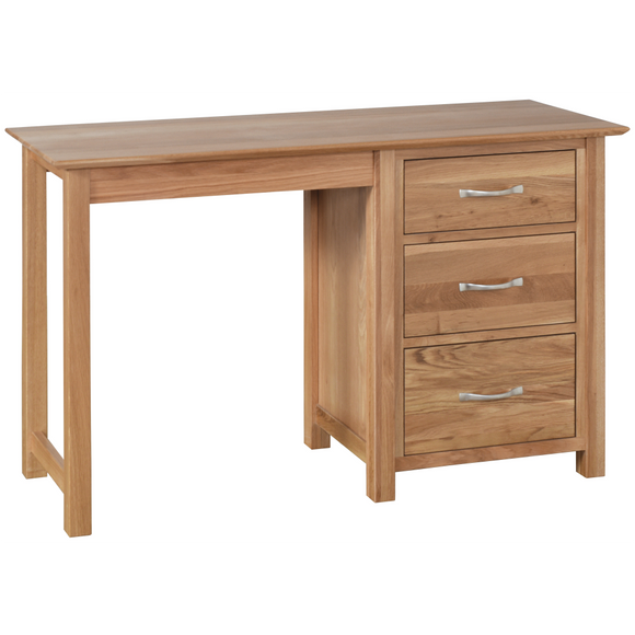 Hampshire Oak Single Pedestal Dressing Table