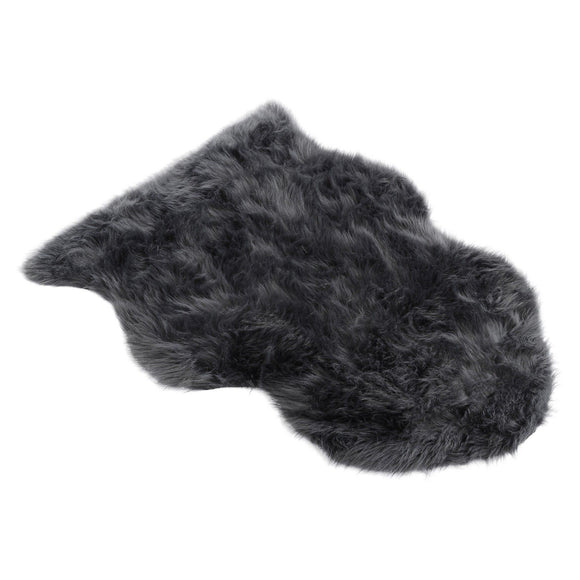Faux Grey Sheepskin Rug
