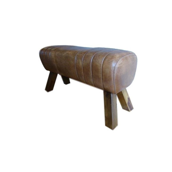 Large Leather Bench