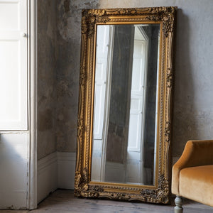 Gold Carved Vienna Leaner Mirror
