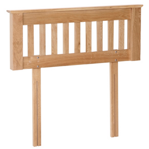 Hampshire Oak Slatted Headboard