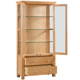 Oxford Oak Display Cabinet