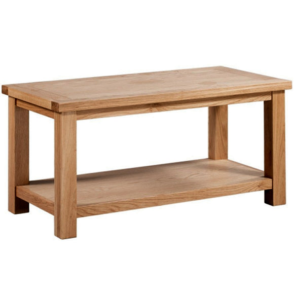 Oxford Oak Large Coffee Table with Shelf