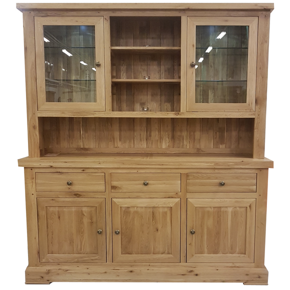 French Oak Large Complete Dresser