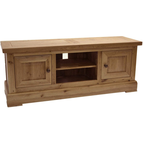 French Oak Large TV Unit