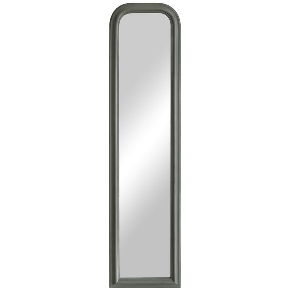 Large Grey Curved Top Mirror