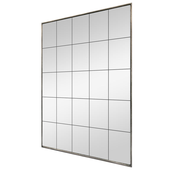 Large Grey Panel Mirror