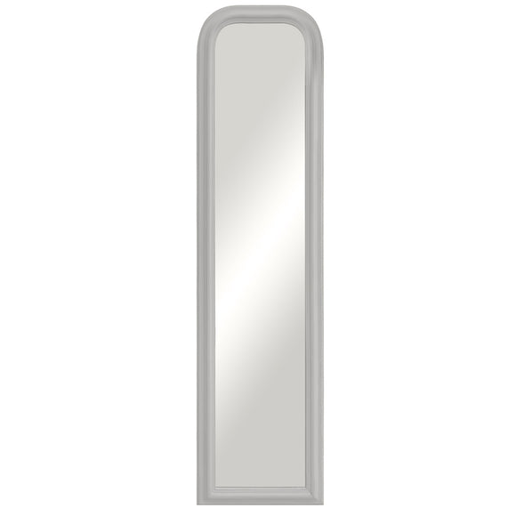 Large White Curved Top Mirror