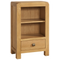 Sway Oak Low Bookcase with 1 Drawer