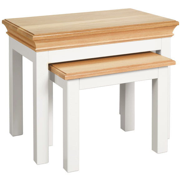 Eton White Nest of Tables