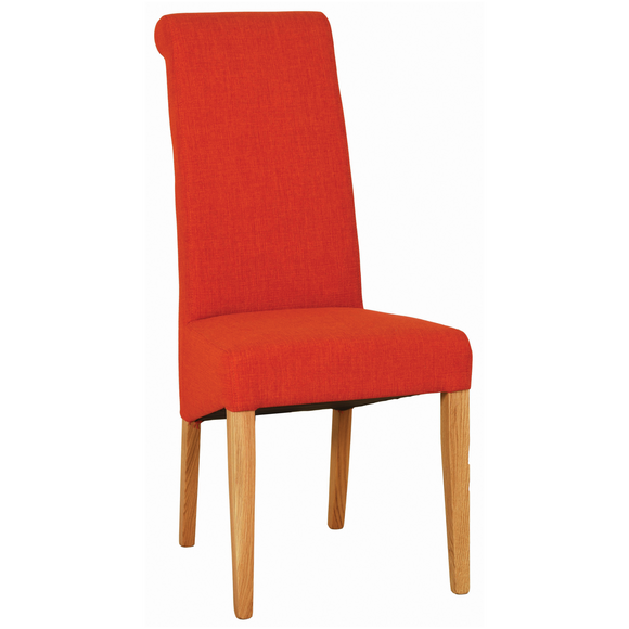 Orange Hampshire Fabric Chair