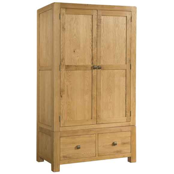 Sway Oak Double Wardrobe