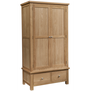 Oxford Oak Double Wardrobe with 2 Drawers