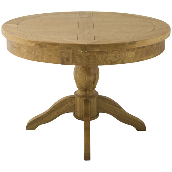 Montana Oak Round Butterfly Extending Table